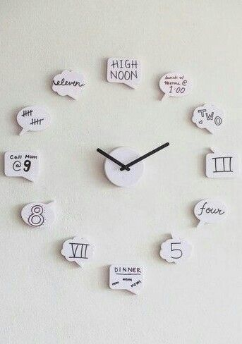 cute clock for teen girl room - Diy Decorations For Teenage Bedrooms