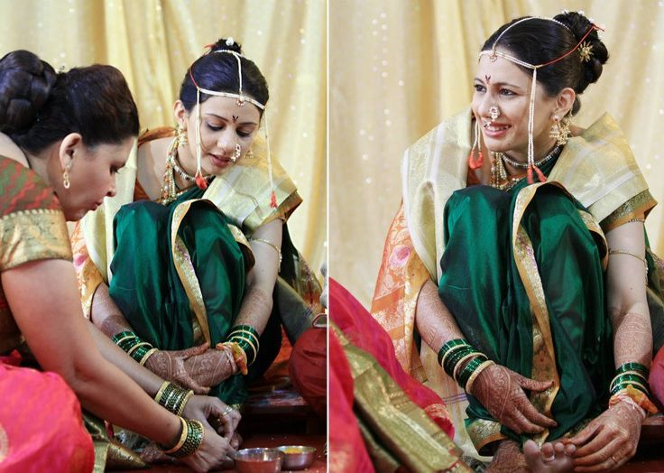 the marathi bride getting ready