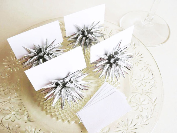items similar to handmade place card holders party favors mini silver ornaments and tabletop decor four 2 inch sterling silver on etsy