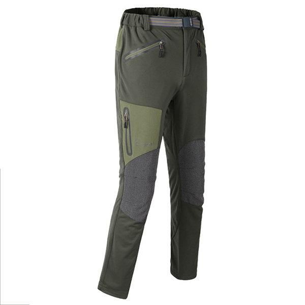 Mens Outdoor Warm Soft Shell Pants Winter Water Repellent Thick Hiking Pants In 2020 Hiking Pants Best Hiking Pants Outdoor Pants