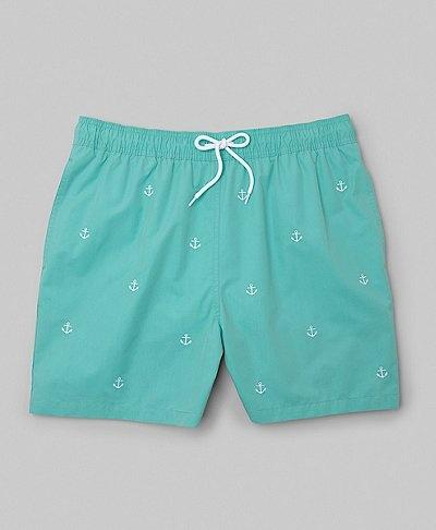 Brooks Brothers- South Hampton Embroidered Swim Trunks
