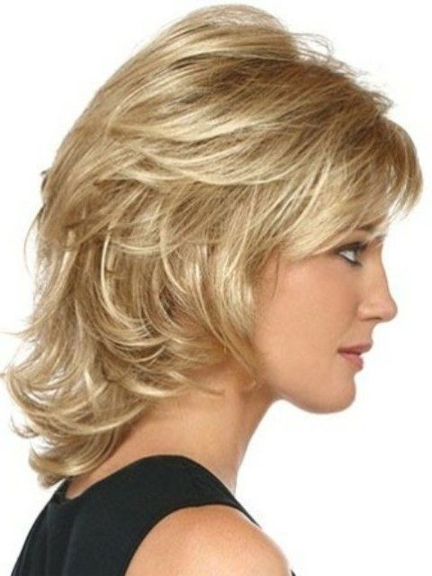 Curly Hairstyles For Short To Medium Length Hair : Medium length layered hairstyles med and
