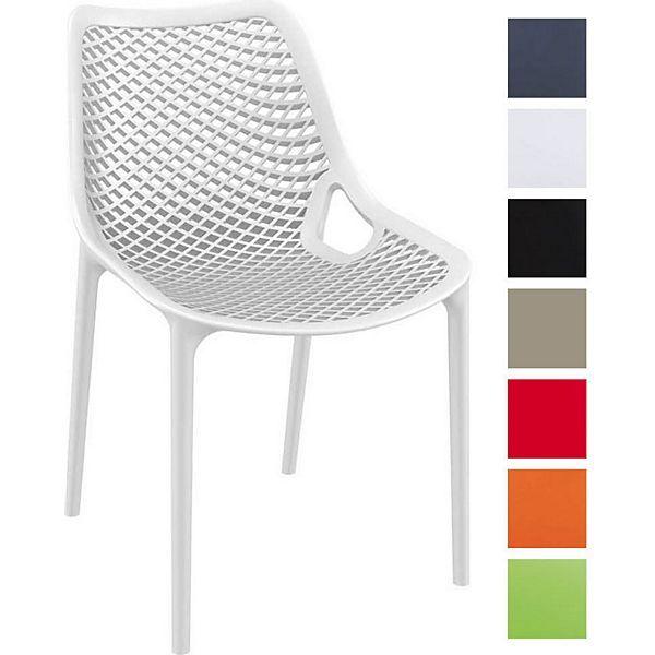 XXL Bistrostuhl, Stapel-Stuhl AIR, stapelbar, max. Belastbarkeit 160 kg, Kunststoff, Sitzhöhe 44 cm, tolle Wabenoptik