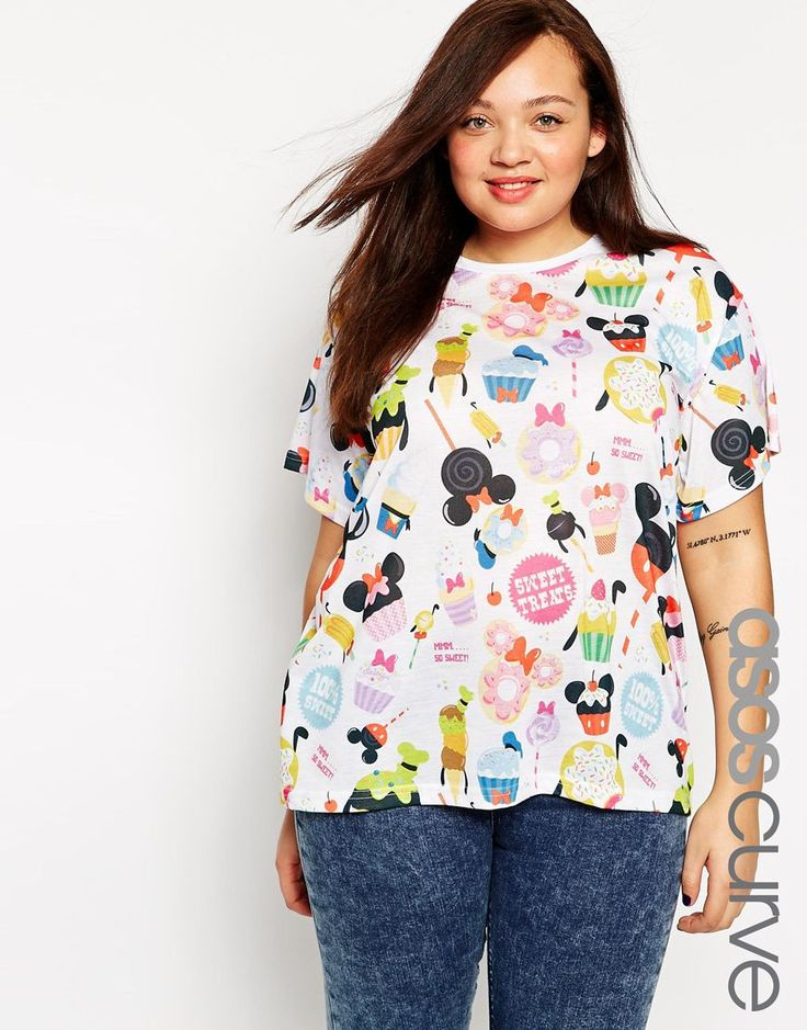ASOS CURVE T-Shirt with Disney Solar Pop Print
