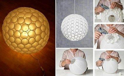 Recicla y realizar una bella lámpara