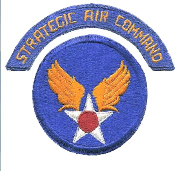 The 1946-1951 SAC patch (above) was replaced by the patch with insignia that won a SAC contest.  The Strategic Air Forces of the United States during World War II included Carl Spaatz's European command (United States Strategic Air Forces in Europe (USSTAF) with 8AF & 15AF) and the United States Strategic Air Forces in the Pacific (with the Twentieth Air Force).[2] US Army Air Forces' first mission in the Strategic Bombing Campaign in theEuropean Theatre included the VIII Bomber…