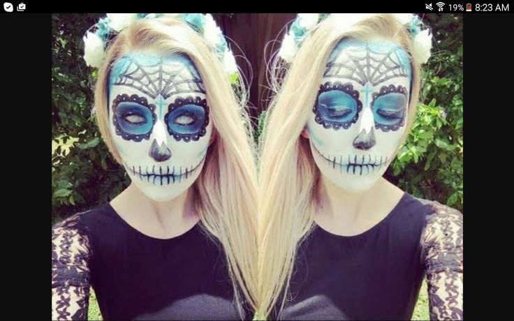 Day of the dead blue makeup