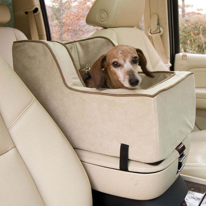 Snoozer High Back Console Pet Car Seat Large Chaparral Luxury Microsuede Cover Comfortable Yet Durable Foam Form Fits On SUV Consoles Safety
