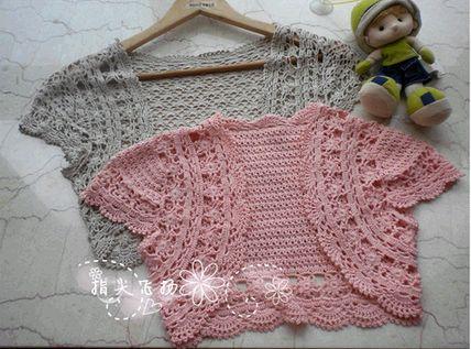 Niñas Bolero crochet