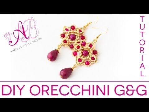 Video tutorial: come creare degli eleganti Orecchini Coda di Pavone con perle, buggle e rocailles - YouTube