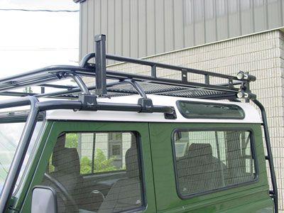 Defender 90 japanese specification defender roof rack for Fishing pole holder for car