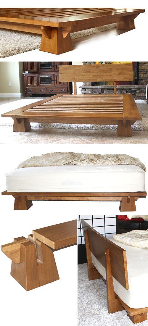 platform bed japan | ... efficient wakayama platform bed frame features interlocking japanese