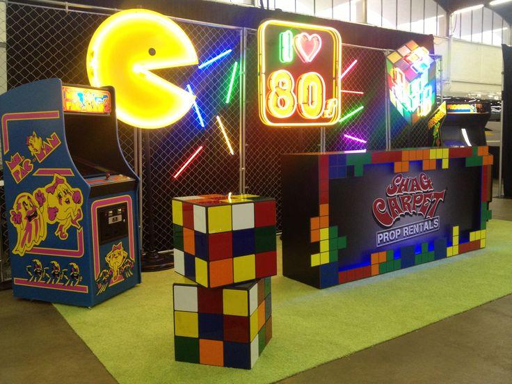 80s decor ideas pac man neon rubik 39 s cube vintage for 80s decoration ideas