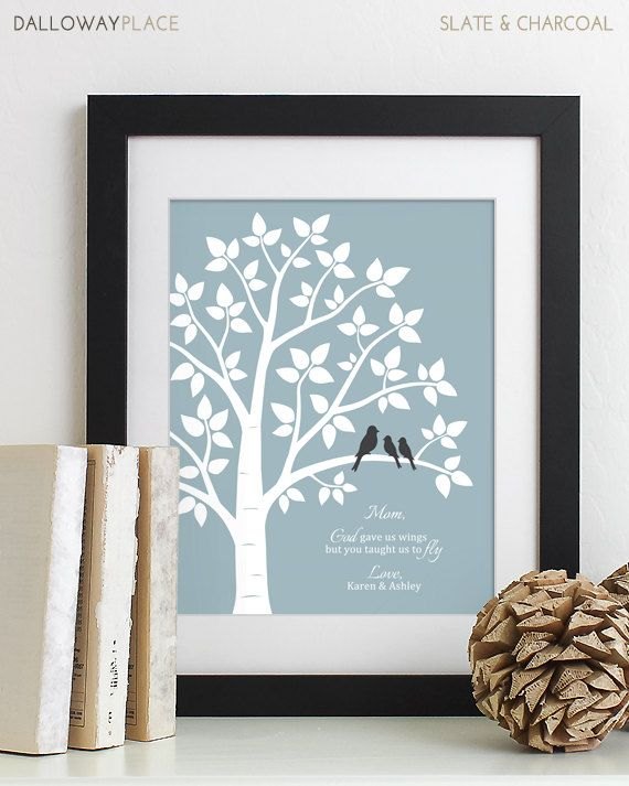 Mother's Day Gift for Mom Gift for Her Personalized Family Tree Mom Poem Mother of the Bride Gift for Mum Thank You Mom Gift From Kids 11x14