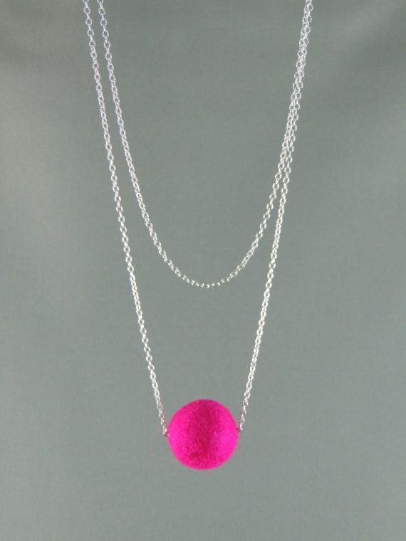 Hey, I found this really awesome Etsy listing at https://www.etsy.com/listing/177527324/stunning-single-felt-ball-on-chain