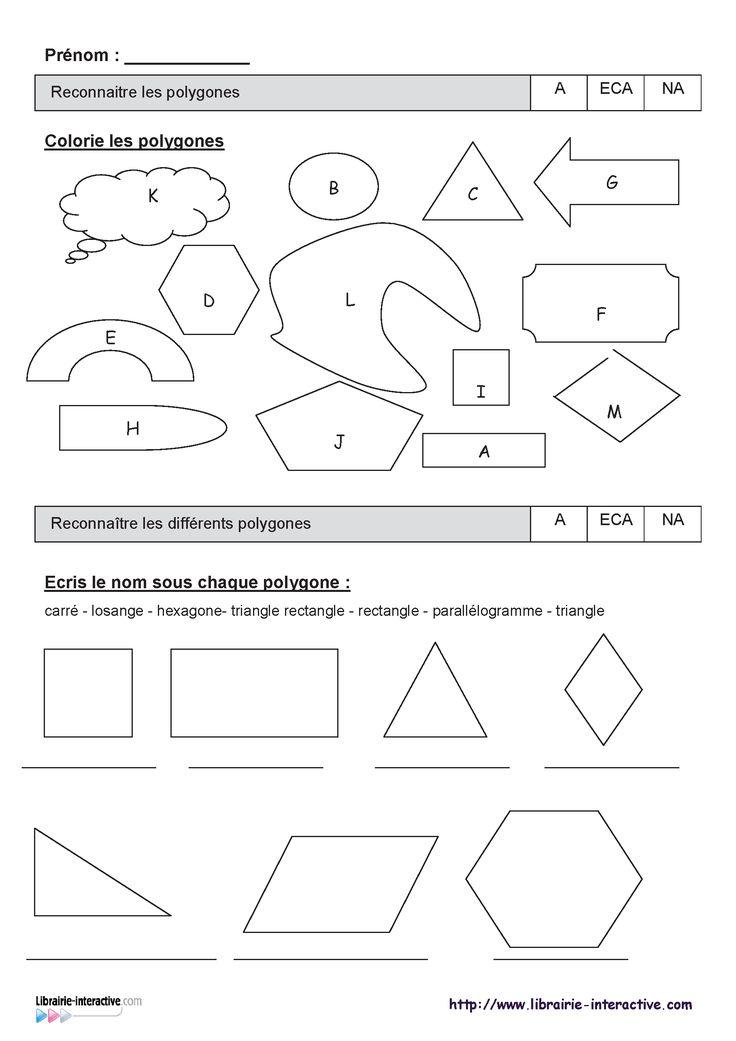 Deux évaluations (CE1 et CE2) sur les polygones, les quadrilatères et les conversions de longueurs.