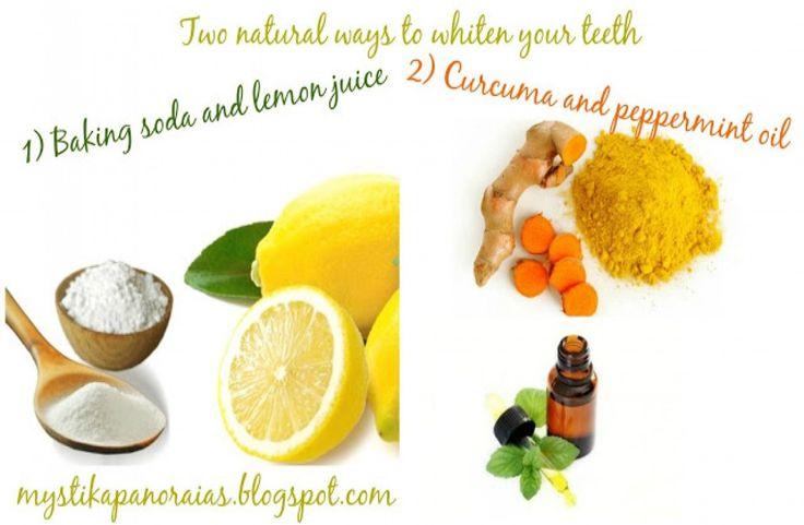 2 συνταγές για λεύκανση δοντιών με φυσικά υλικά από την κουζίνα σου !!!