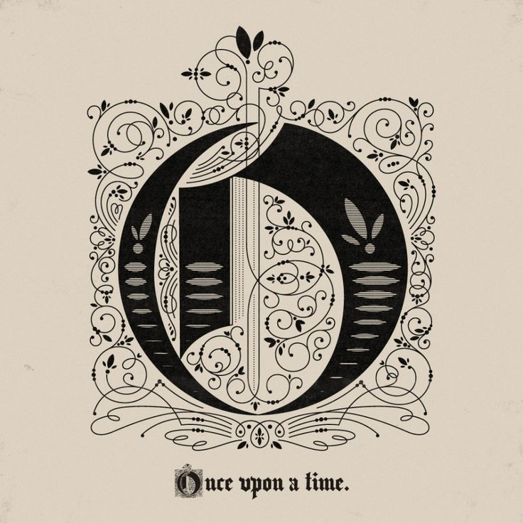 once upon a time: Drewmelton, Drew Melton, Illuminated Letters, Graphics Design, Typography, Old English Tattoo, Stories Time, Once Upon A Time, Fairies Tales