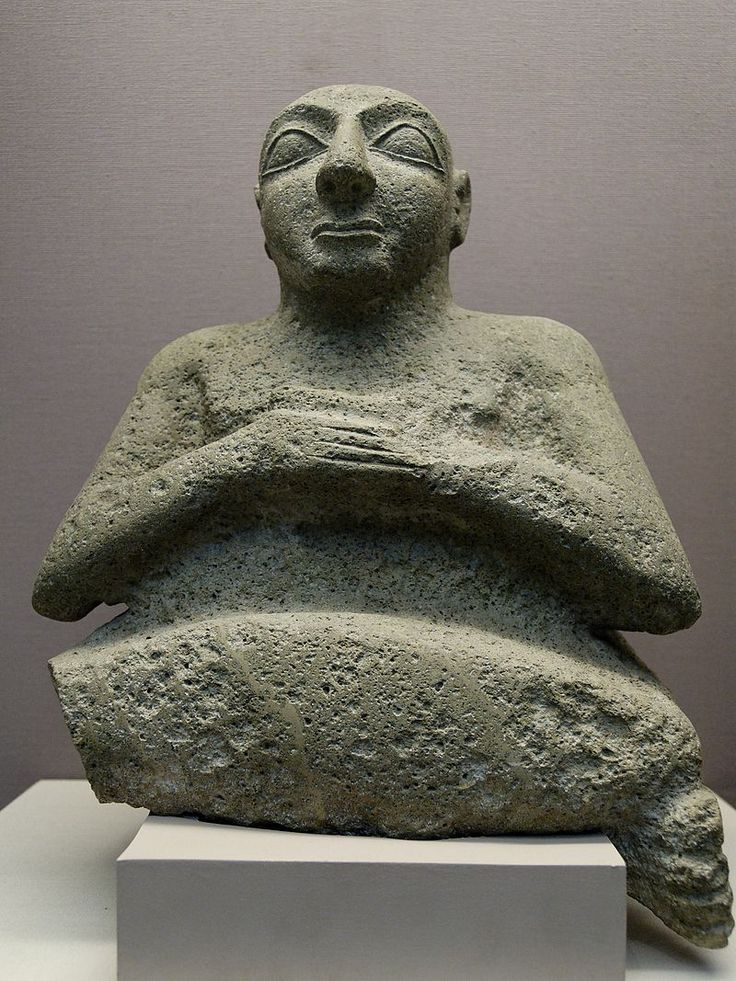 Sumer - Statue en position d'orant de Kur-lil, dignitaire du royaume d'Uruk vers le milieu du IIIe millénaire avant notre ère, retrouvée à el-Obeid - British Museum.
