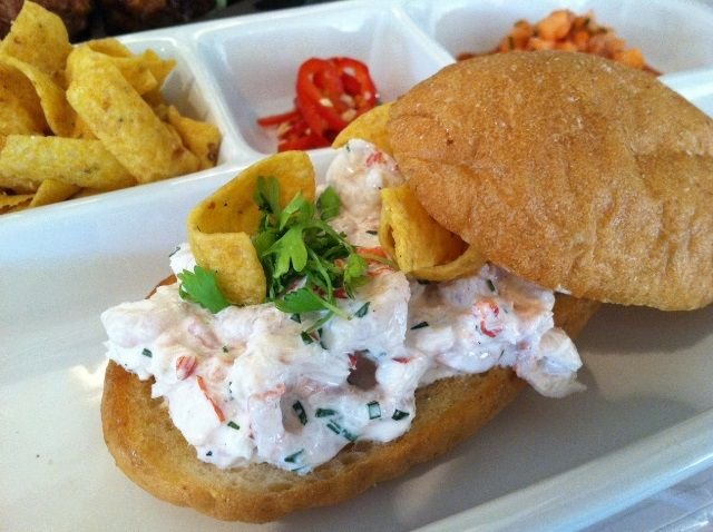 Chilled Lobster and Sweet Shrimp Torta Recipe  #Mexican #Lobster #Recipe #Shrimp #Torta  www.AZFoothills.com