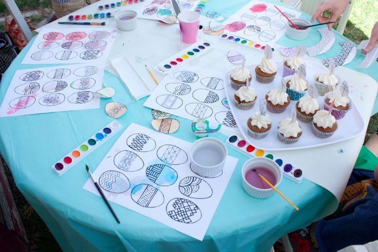 watercolor easter party - free downloads // fifth & hazel