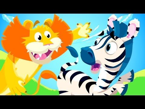 Little Zebra lost his Stripes! | Animal Songs | by Little Angel - YouTube