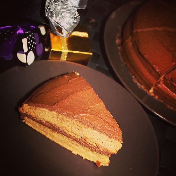 Healthy chocolate peanut gluten free cake with no added sugar