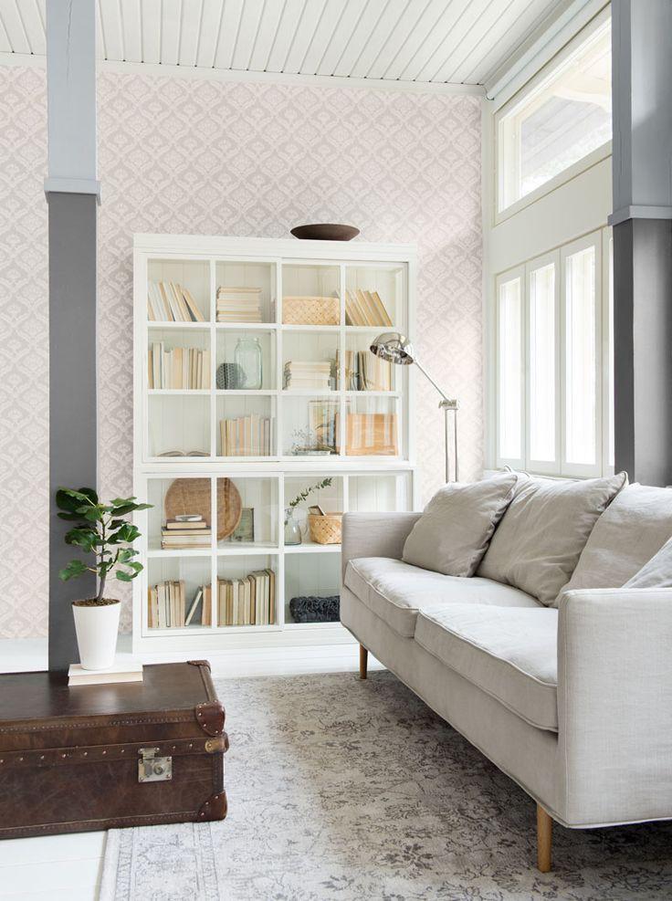 Boknäs Scandic / Villinki-hylly, Julia Lux -sohva, Depoortere-matto.