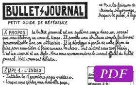 Le petit guide de référence du bullet journal en une page