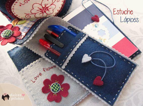 dulces pilukas: Funda Libreta Love Flowers