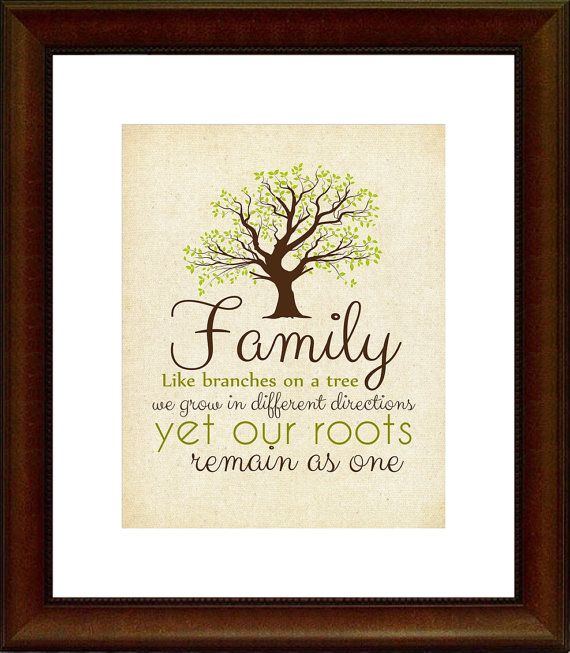 Family Quote Printable, Color Options, Home Decor, Family Roots, 8x10 Printable, 5x7, Wall Art, Typography, INSTANT DOWNLOAD