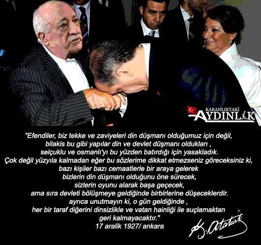 Ulu önder Atatürk, bu günleri görmüş, Türk milletini ikaz etmişti. Bugün gelinen nokta, tam olarak budur.