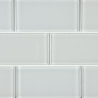 Merola Tile Tessera Subway Ice White 3 In X 6 In Glass