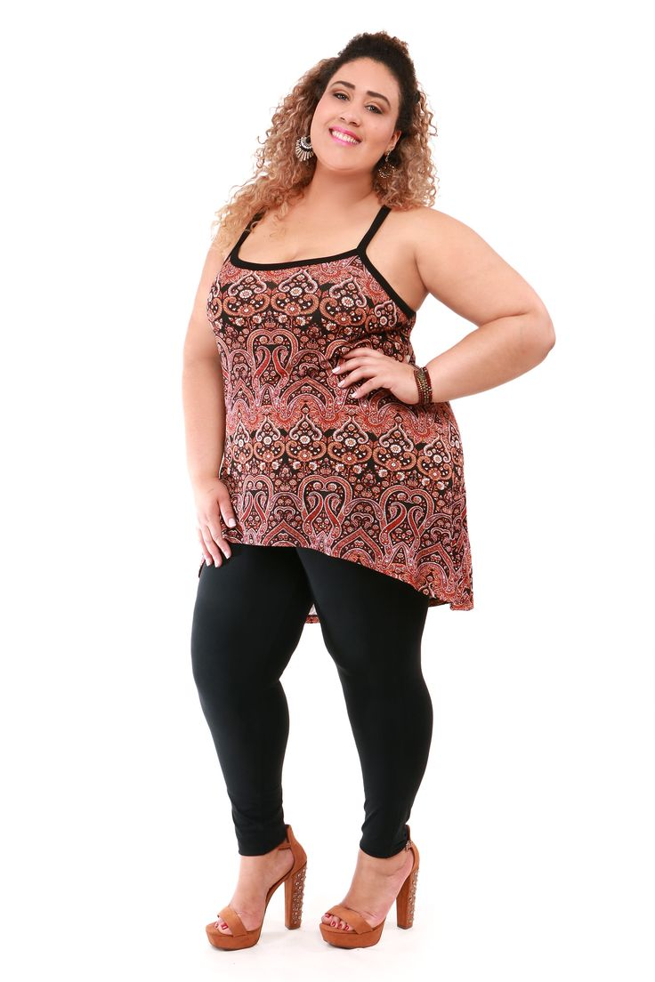 Mini vest Plus size estampado