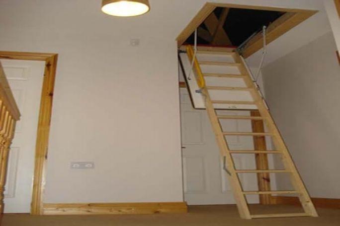 Pull Down Attic Stairs Design Ideas Home Interior Design Ideas In 2020 Attic Remodel Attic Renovation Small Attic Room