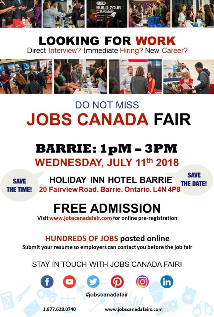 The Barrie Job Fair connects, HR Managers, recruiters and hiring