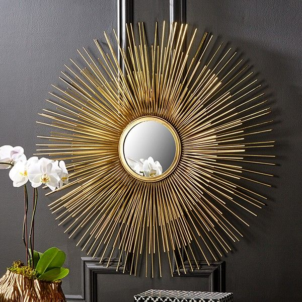 Gold Sunburst Mirror - available from MiaFleur