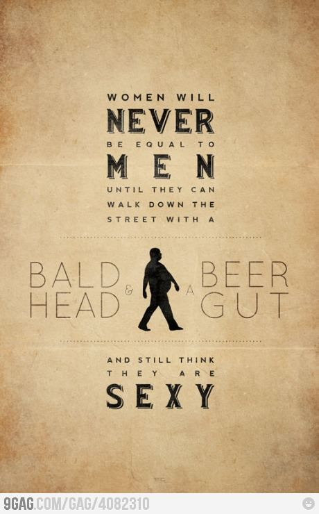 I dunno should a man let baldness and weight stop him from feeling sexy? Men/ Women, Fat/Thin, Bald/full bodied we all are sexy as long as your not an asshole cause you can diet to lose weight but an asshole is forever. #diet #workout #fitness #weightloss #loseweight