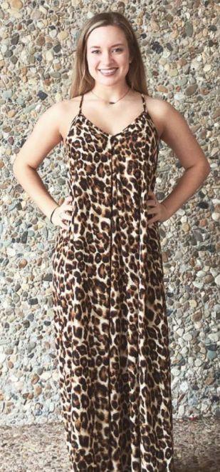 Women's Leopard Maxi Dress