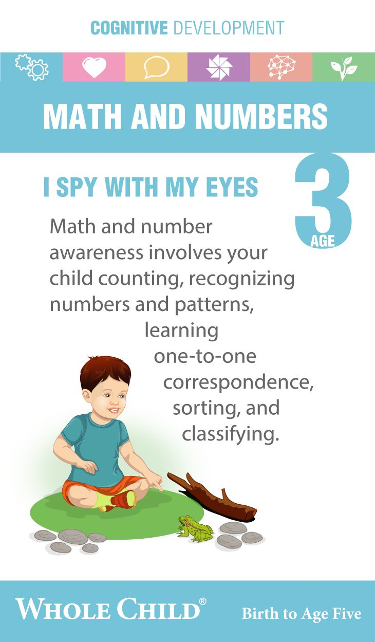 # Age Three Cognitive development # math and numbers ...