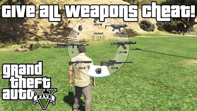 GTA 5 Cheats and Cheat Codes PS3   Weapons and Ammo GTA 5