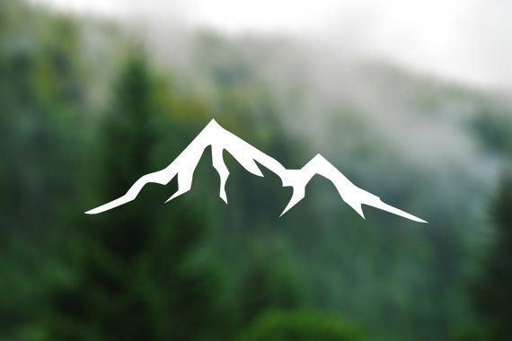DECAL Mountain Vinyl Decal Car Window Decal Laptop by TreeAndArrow