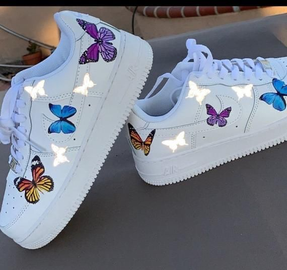 air force 1 femme papillon