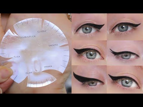 Zabrena: Winged Eyeliner Tutorial | 6 Different Styles, ONE Stencil i Envy by Kiss Wing it Gel Eyeliner with Stencil