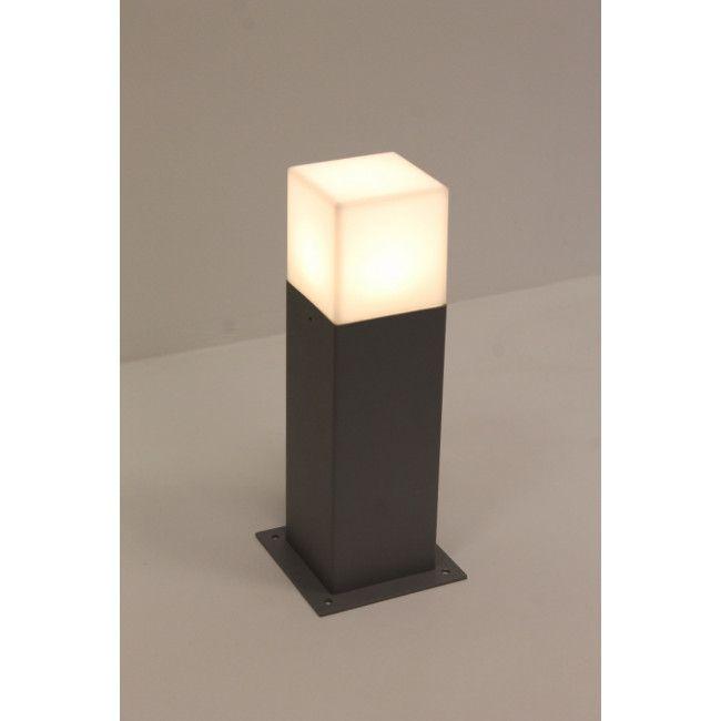 Strakke Buitenlamp Block Paal Klein Grijs Staande Buitenlampen Buitenlampen Verlichting Buitenlamp Buitenlampen Led Lamp
