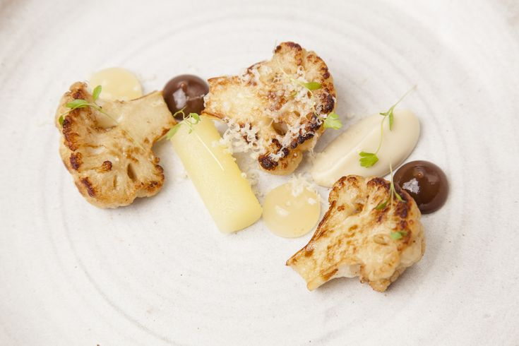 Cauliflower cheese has just become sophisticated! This recipe from GB chef Nigel Mendham uses raisins, apples and delicious purées to create a grown-up classic