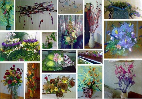 Композиции из искусственных цветов - СОСЕД-ДОМОСЕД