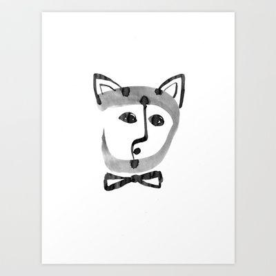Feeling cat Art Print by Zsófi Porkoláb