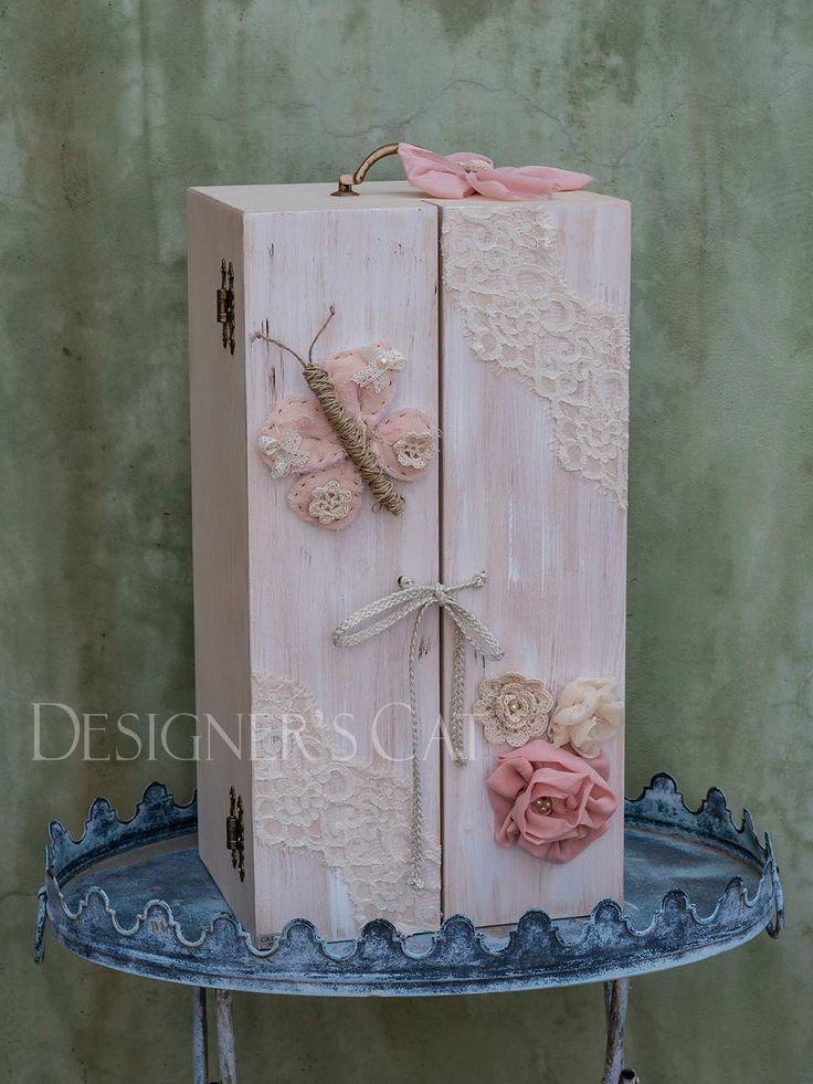 des.GIOVANA #χειροποίητο #κουτίβάπτισης #Handmade #christening #box of natural birch wood #vaptisi #βαπτιση #designerscat