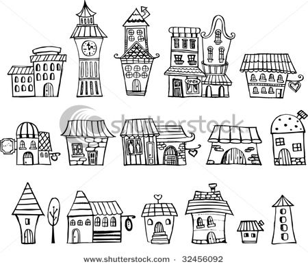 Cartoon vector fairy tale drawing houses. Series separate lodge.